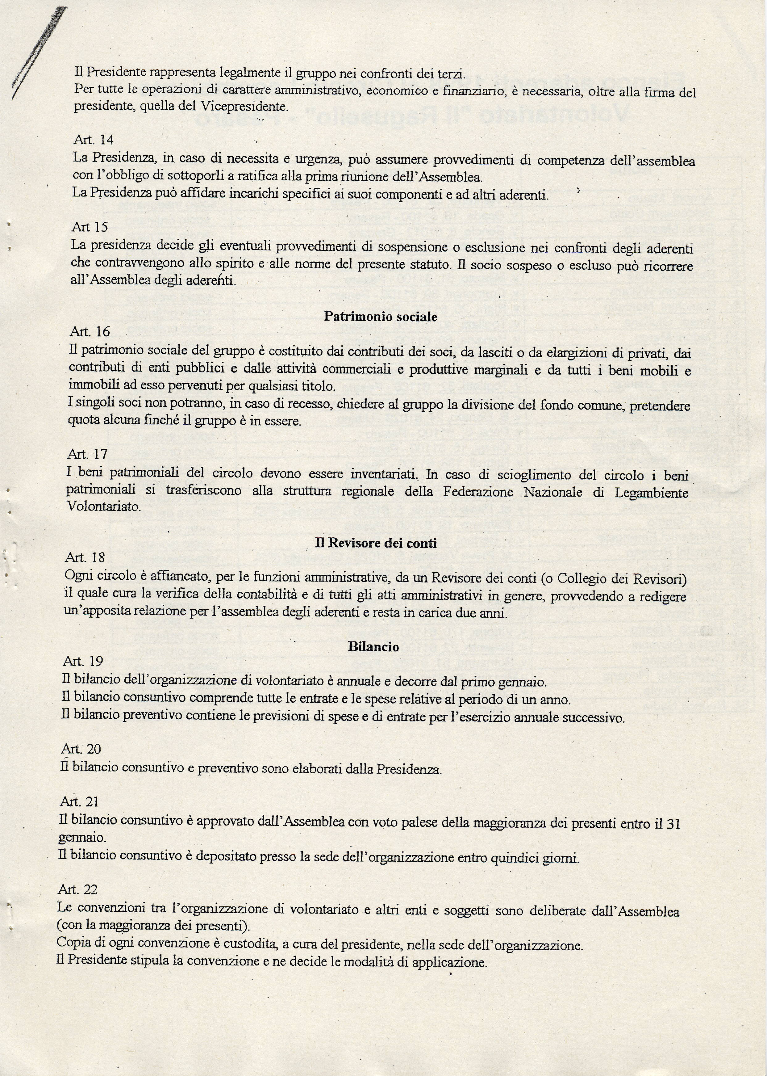 Pagina 3 dello Statuto
