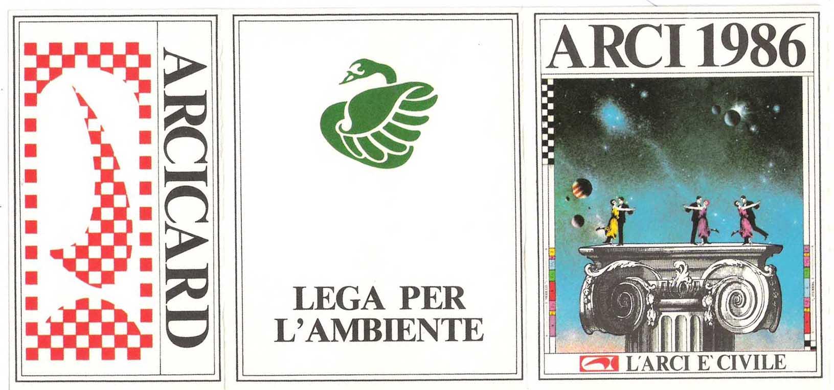 Tessera Legambiente 1986