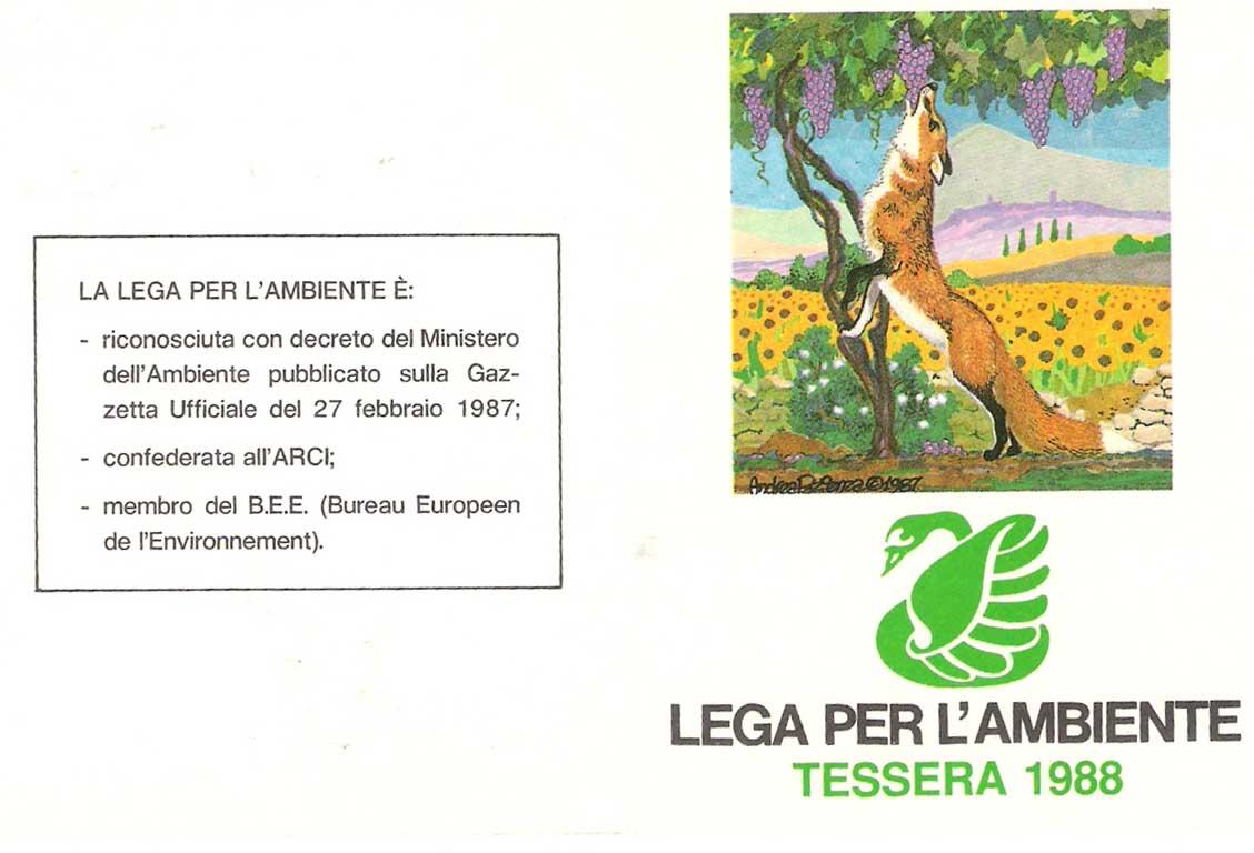 Tessera Legambiente 1988