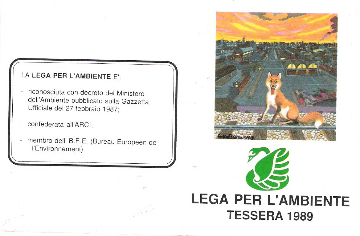 Tessera Legambiente 1989